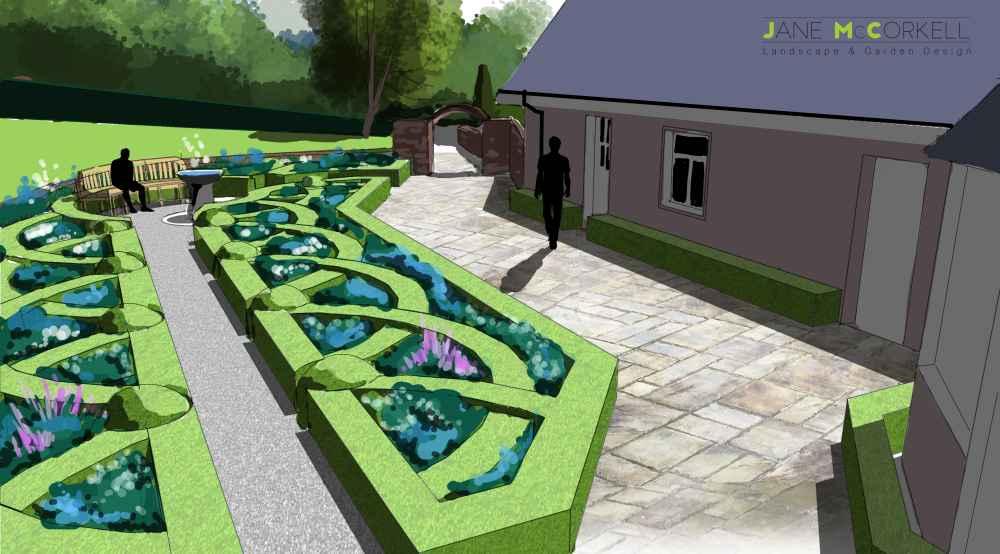 kildare garden perspective view - Garden Design Kildare